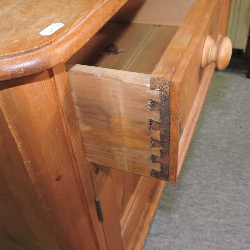 A white painted pine desk - Image 8 of 9