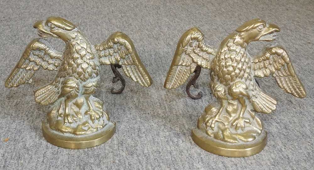 A pair of brass fire dogs - Image 3 of 3