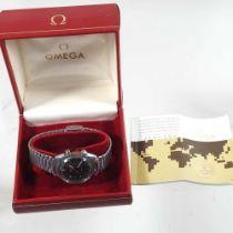 A 1980's Omega steel cased gentleman's wristwatch