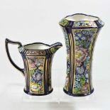 A Masons Decoupage pattern vase