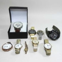 A collection of nine various vintage wristwatches