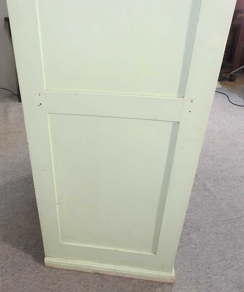 An early 20th century green painted French armoire - Image 8 of 8