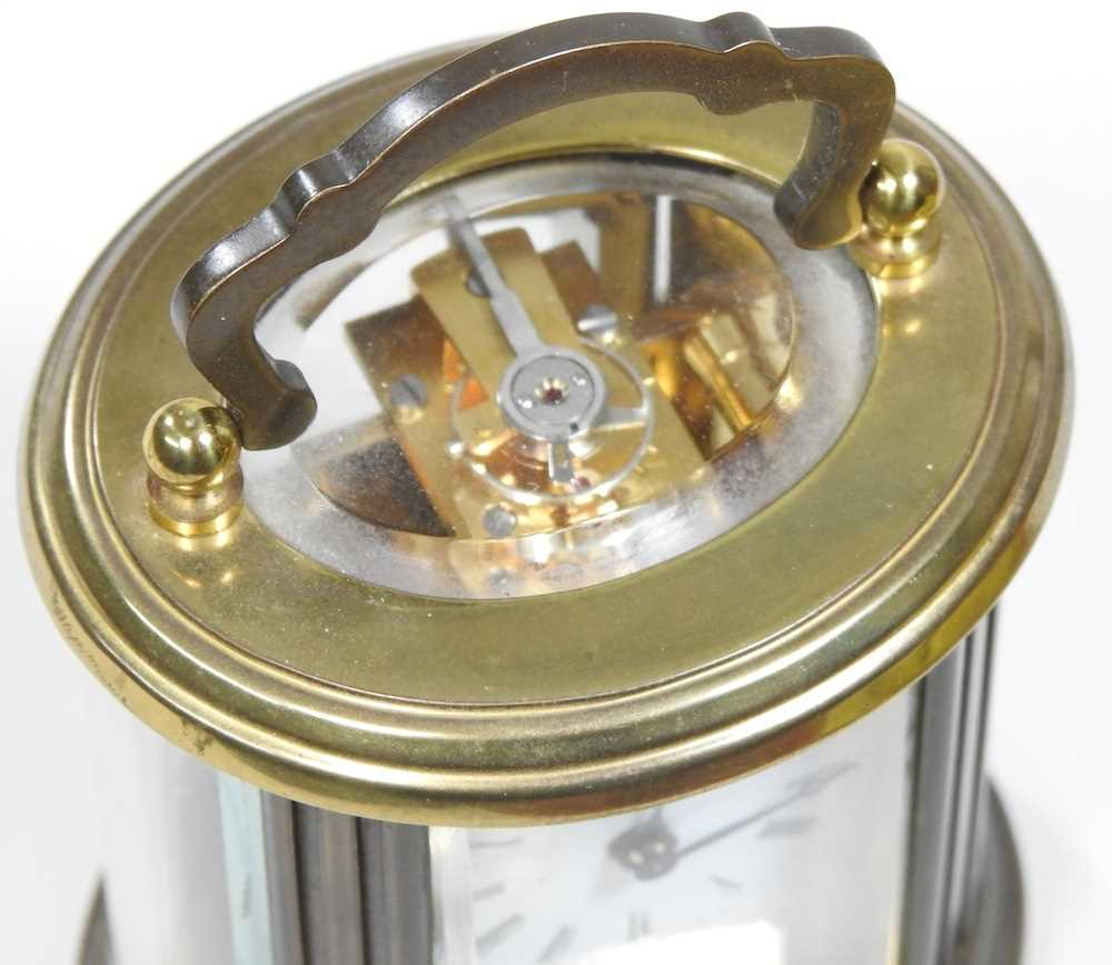 A small brass cased carriage clock - Image 6 of 8