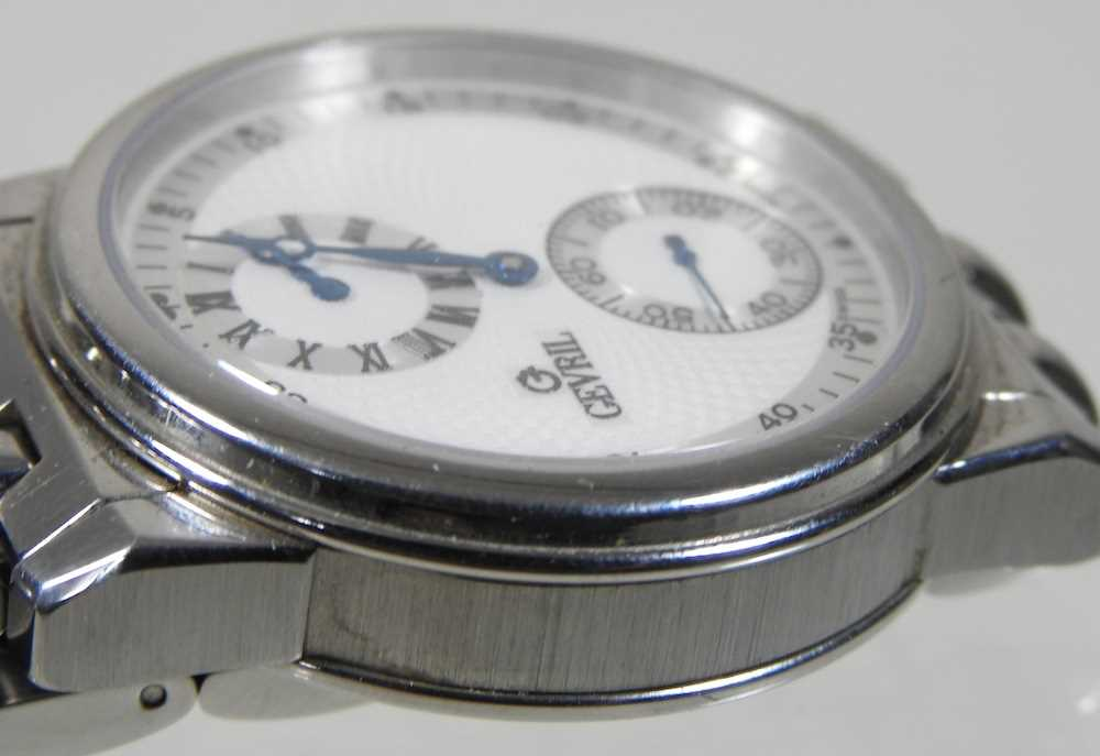 A modern Gevril steel cased chronograph wristwatch - Image 10 of 12