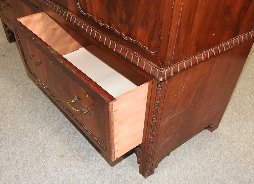 An Edwardian mahogany wardrobe - Image 6 of 9