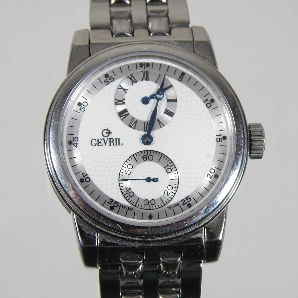 A modern Gevril steel cased chronograph wristwatch - Image 3 of 12