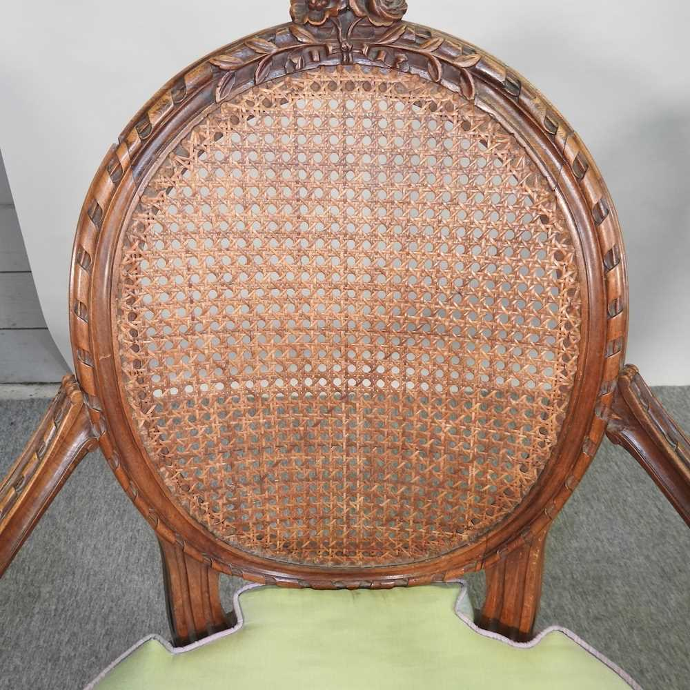 A pair of early 20th century Louis XVI style armchairs - Image 6 of 15