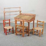 A child's school desk