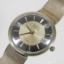 A 1960's Longines Admiral gold plated automatic gentleman's wristwatch