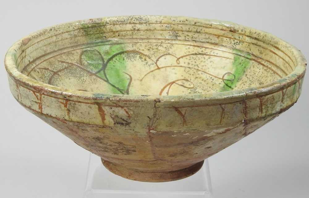 A Persian glazed pottery bowl - Image 3 of 6