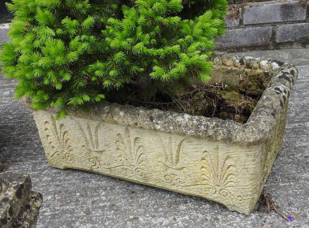 A pair of reconstituted stone troughs - Image 2 of 5