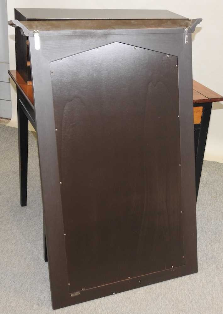 A reproduction French style fruit wood and black painted desk - Image 2 of 15