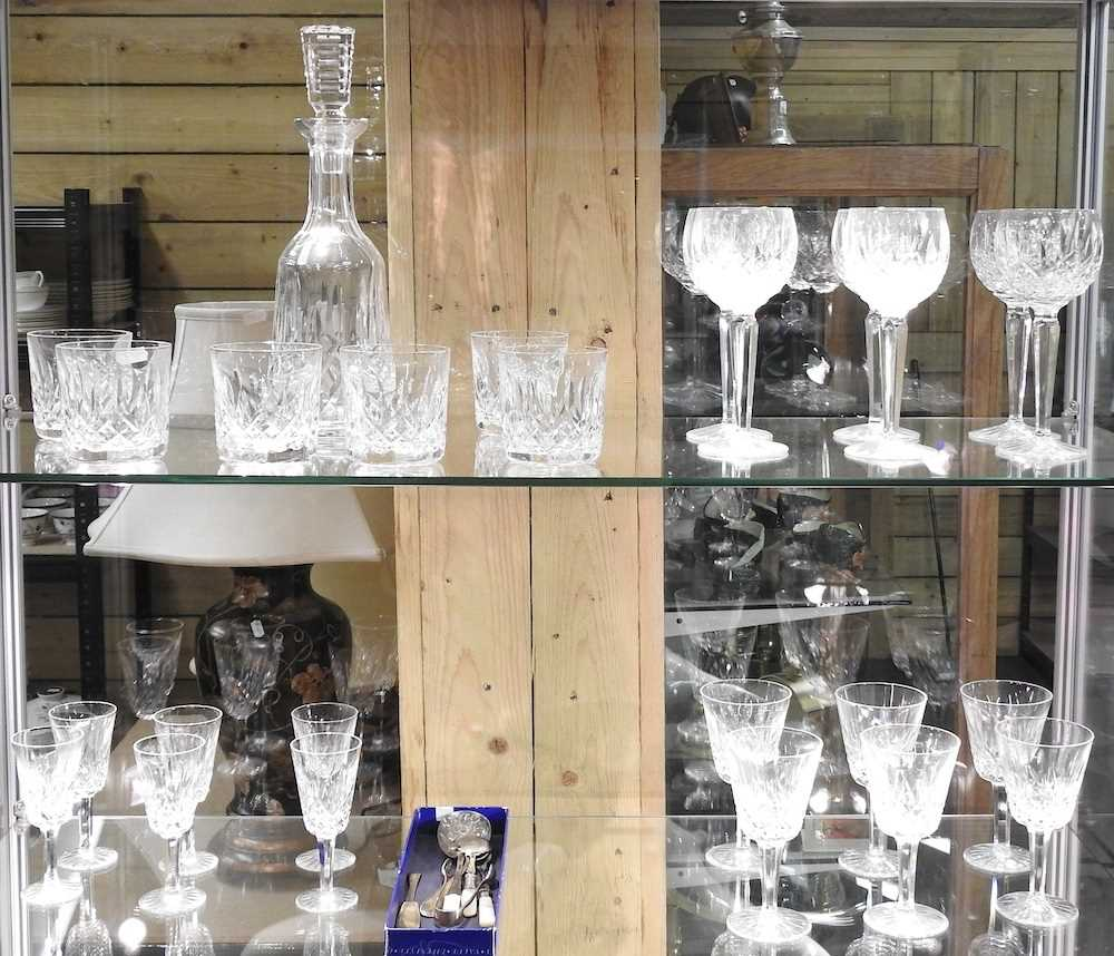 A collection of Waterford Lismore pattern crystal - Image 3 of 14