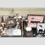 A collection of 19th century and later silver plated items