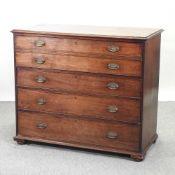 A George III mahogany secretaire chest