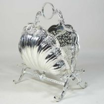 A Victorian style plated metal biscuit box
