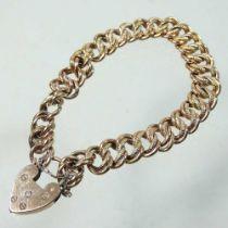 An unmarked curb link bracelet