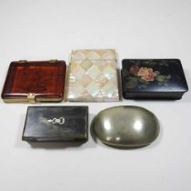 A 19th century mother of pearl visiting card case