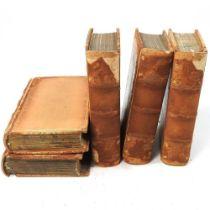 A set of five miniature books