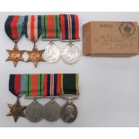 Royal Signals Territorial Efficiency Medal Group consisting 1939/45 Star, Defence medal and War