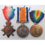 Army Service Corps 1914 Star Medal Trio consisting 1914 Star, silver War medal and Victory medal
