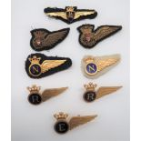 BAOC Aircrew Wings consisting gilt and enamel Pilot ... 2 x gilt and enamel Navigator ... Gilt and