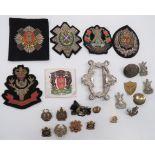 Scottish Sweetheart and Sporran Badges sweetheart badges include gilt and enamel, KC HLI ...
