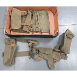 Small Selection of 1937 Pattern Webbing including revolver holster ... Pistol ammunition pouch ... 2