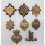 Eight Various Valise Badges consisting brass, Vic crown Grenadier Guards ... Brass Coldstream Guards