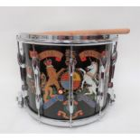 Current Royal Marines Snare Drum painted, composite body drum with hand painted, QC Royal Marines