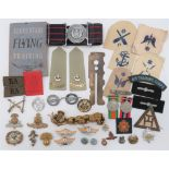 Selection of Various Badges and Buttons including brass, KC Grenadier Guards ... Plated Air Training
