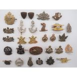 Canadian Collar Badges including white metal, KC Canadian Intelligence Corps ... White metal, QC