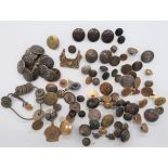 Civilian and Livery Buttons including bronzed, AVF Bath 1914 ... Silvered rampant lion livery ...