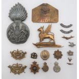 Royal Scots Fusiliers Wall Plaque Badge 7 1/2 inch, plated flaming grenade. The ball with overlaid,