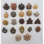 Canadian Badges Including OTC including bronzed B.C.C. OTC ... Bronzed, KC Canadian Officer