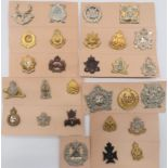 Pre 1952 Canadian Cap Badges including bi-metal, KC The Perth Regiment ... White metal, KC Glengarry
