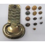 Jersey and Guernsey Buttons including plated, 2nd Royal Jersey Militia ... White metal, 3rd Royal