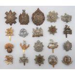 Infantry Cap Badges including white metal, KC Black Watch ... White metal, KC KOSB ... White metal