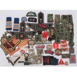 Selection of Post 1953 Rank Badges including gilt braid, Sergeant stripes ... Similar Corporal ...