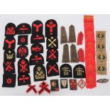 Formation and Naval Badges Formation include printed 78th Div over RA/RE arm of service ...