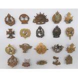 Commonwealth Cap Badges including brass, 4th Otago Reg ... Bronzed, KC 1st Regiment New Zealand