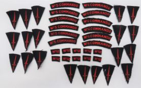 Good Selection of Commando Badges consisting 6 x embroidery, No 5 Commando ... 6 x embroidery, No