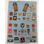 WW2 ATS Collection of Formation Badges relating to L/Cpl Thurley ATS. Some stitched onto an