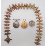 "WW1 Devon Regiment Medal Pair silver War medal and Victory named """"59066 Pte C Campbell Devon R""""."