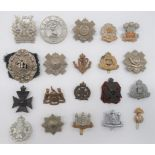 Infantry Badges Including 2nd Royal Surrey Militia and various Territorials