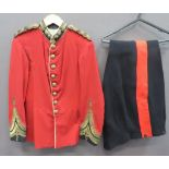 Victorian Royal Fusiliers Officer's Dress Tunic scarlet melton, single breasted tunic. High,
