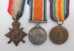Royal Army Medical Corps 1914-15 Medal Trio consisting 1914-15 star, silver War medal and Victory