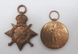 "WW1 Officer's Broken Medal Trio consisting 1914/15 Star named ""Capt P K Clapham RFA"", WW1 Victory"