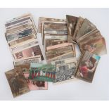 Quantity of British and French WW1 Patriotic Postcards good mixed selection of sentimental