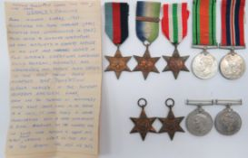 Two WW2 Medal Groups consisting 1939/45 Star, Atlantic Star with France and Germany bar, Italy Star,